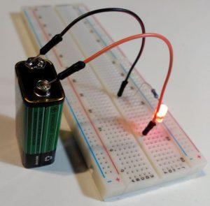 Circuito de prueba de LED - Fuente conectada