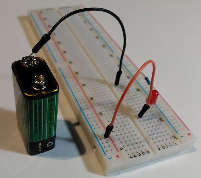 Circuito de prueba de LED - Fuente desconectada