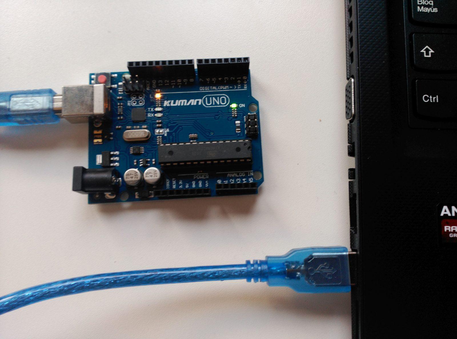 Conexión Arduino a PC por USB