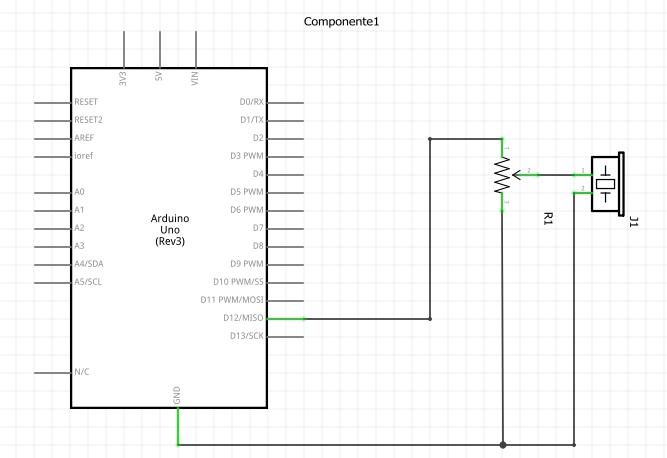 Circuito buzzer con potenciómetro